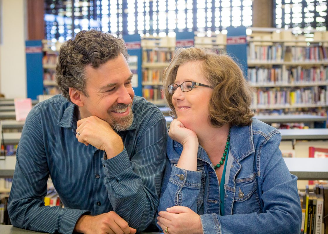 Brian and Juliet at Santa Rosa Library